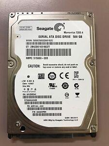 """500GB Seagate 2.5"""" SATA Hard Drive (7200rpm)"""