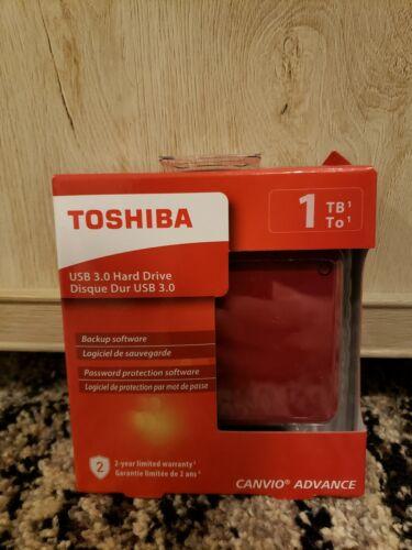 Toshiba Canvio Advance 1TB Portable External Hard Drive USB