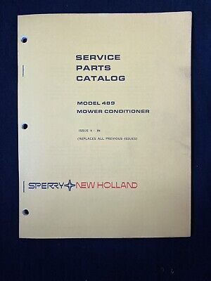 New Holland Service Parts Catalog 489 Mower 1136