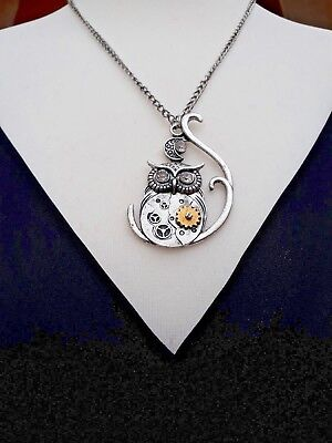 Ladies & Girls Owl Necklace and  Pendant Steampunk Retro Gothic Style Jewellery - Steampunk Fashion Girl