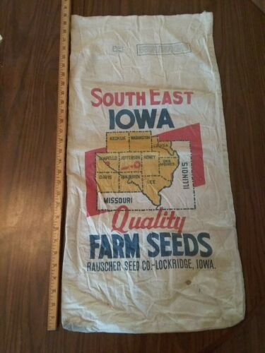 antique feed bag sack quality seeds Lockridge Ia.