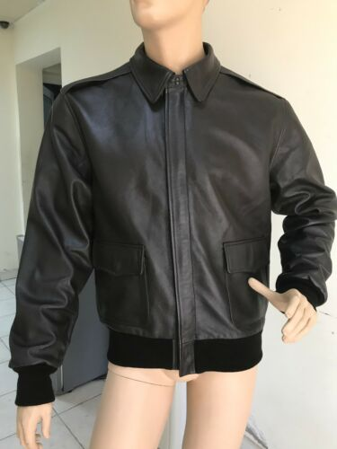 US A-2 AIR FORCE LEATHER FLIGHT JACKET SIZE LARGE