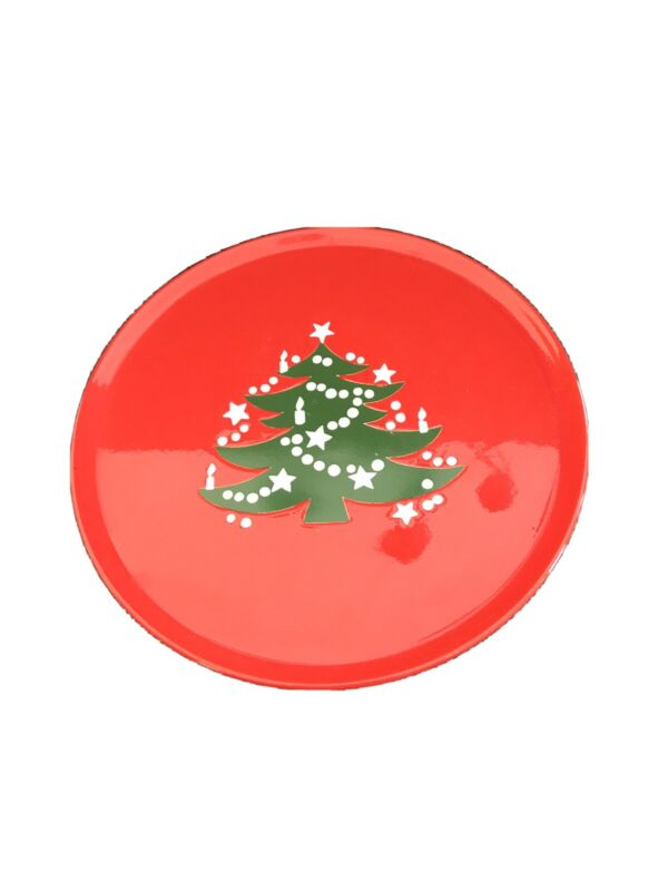 Waechtersbach CHRISTMAS TREE  Footed Cake Plate Hard to Find Germany