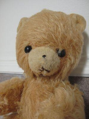Russian German Teddy Bear swivel paws beady eyes straw filled Vintage