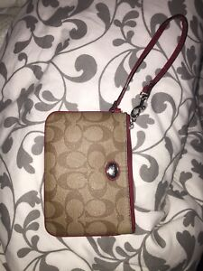 Small Authentic coach wristlet with card slots