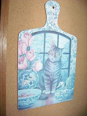 Cat decorative wall hanging wood laminated chopping board