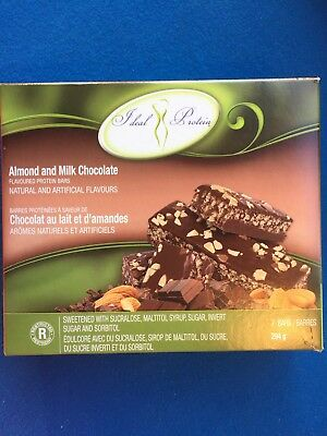 Ideal Protein Almond & Milk Chocolate Protein Bars-7 Bars-EXP 4/30/21 FREE SHIP