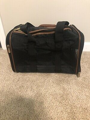 Sherpa's Pet Trading Company Deluxe Dog Cat Pet Carrier Bag Black Size Small