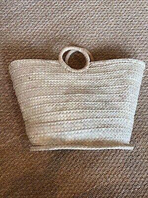 Circle Handle Palm Bag Indego Africa Nwt