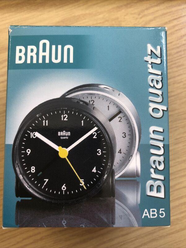 Braun+Quartz+Battery+Alarm+Clock+Round+Silver