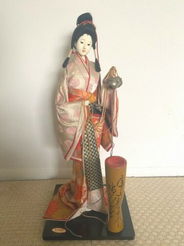 """antique geisha doll 20.5"""" from Japan"""