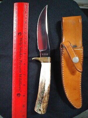 "Jimmy Lile Knife With Sheath 10"""