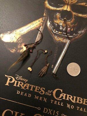 Hot Toys Captain Jack Sparrow POTC DX15 Belt Accessories x 4 loose 1/6th scale](Jack Sparrow Accessories)
