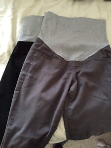 Thyme maternity pants small grey and black