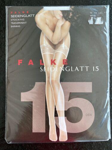 Falke Seidenglatt 15 Stocking III 10 1/2 - 11 white