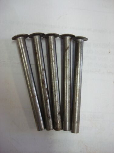 "100 ct Steel Semi Tubular Rivets 3/16"" Diameter x 2"" Length, 3/8"" Head Dia."