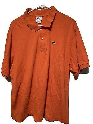 Lacoste Polo Shirt Size 8 Mens Orange