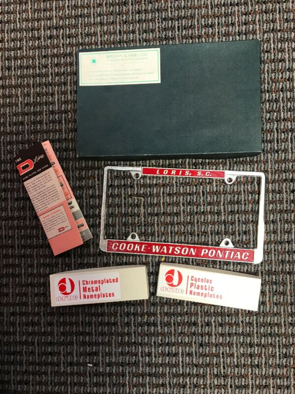 The D-Line Name Plates And Signs Auto Dealer Salesman Sample Kit