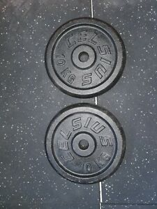 Pair of 10kg weight plates x2 Excellent condition