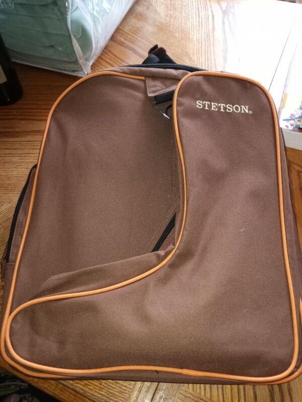 STETSON MULTI ZIPPER COWBOY BOOT BAG ROOMY FREE SHIPPING CLEAN