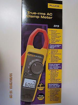 Fluke 373 True Rms 600v Acdc Clamp Meter New