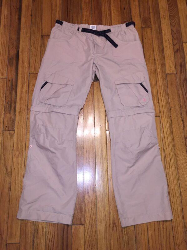 Magellan Womens Convertible Pants Shorts 12  Brown Outdoor Hiking Pockets Poly