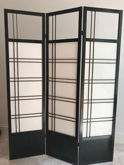 3 panel Japanese privacy screen