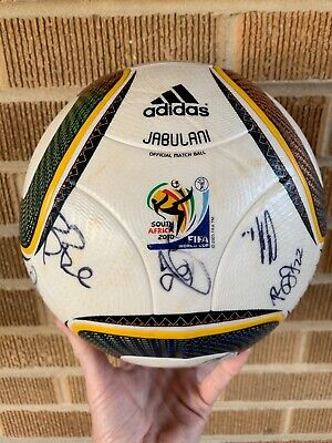 2010 World Tasse Spiel Ball-Adidas Jabulani Offiziell Match Ball-Signed von Team gebraucht kaufen  Versand nach Germany