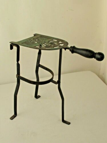 Vintage Trivet Brass &  Iron Fireplace Footman Hearth Stand
