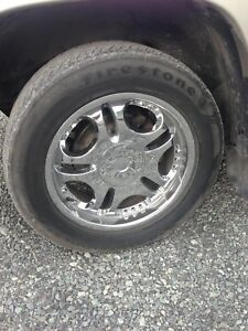 Set of rims and 2 sets of tires