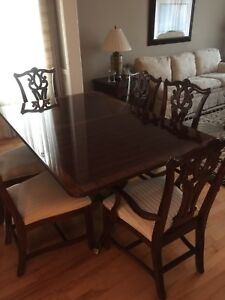 Exquisite Mahogany Inlay Table & Chairs