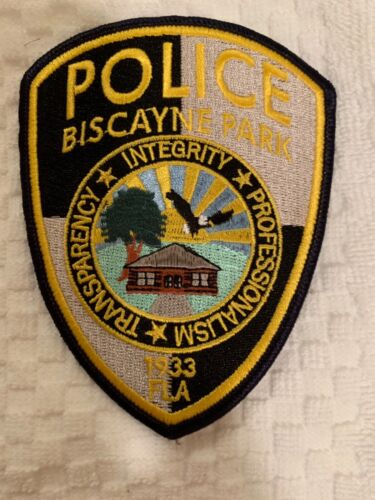 Biscayne Prk Police state Florida FL patch. Colorful