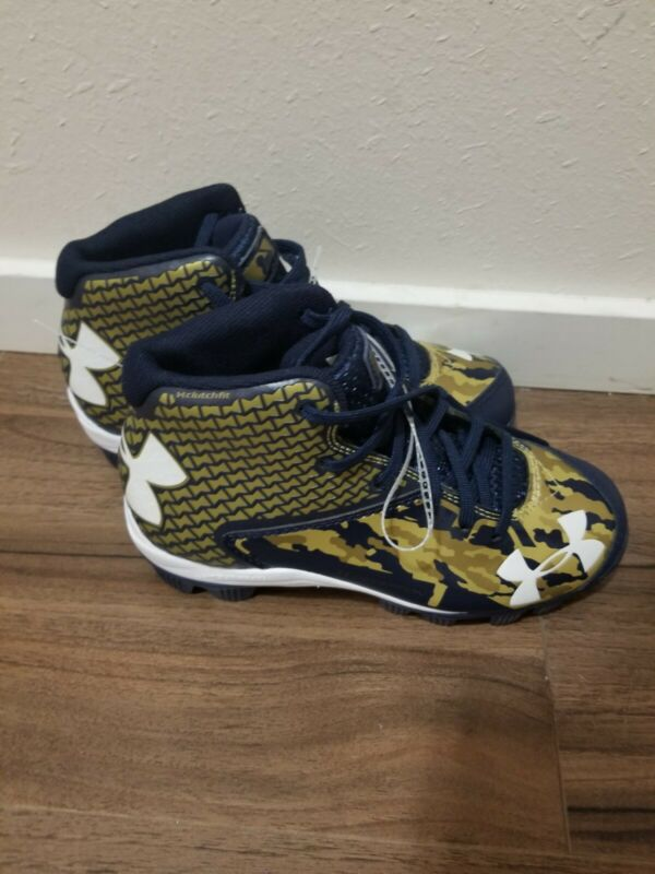 Kids Under Armour Spine Clutch Fit Baseball Cleats size 1Y