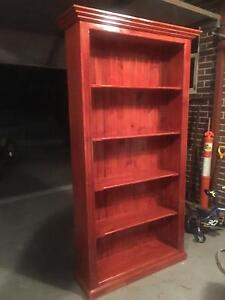 Timber Stained Bookcase Canterbury Canterbury Area Preview