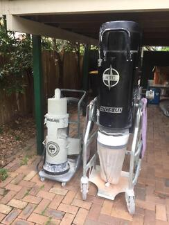 Concrete dust extractor and separator.