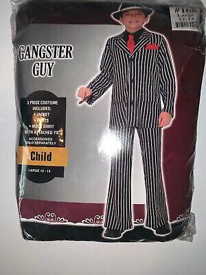 Lil' Gangster Suit Pimp Mob Roaring 20's Capone Child Boys Halloween Costume - Boys Pimp Costume