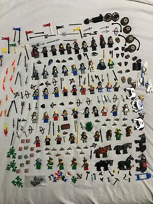 Vintage Lego castle mini figures/horses/shields/accessories 1big lot (very rare)
