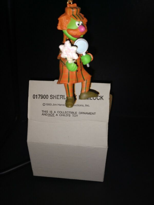 Grolier Christmas Ornament Jim Henson Sesame Street Muppets Sherlock Hemlock '93