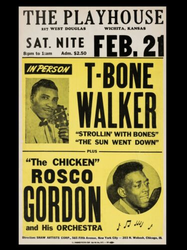 "T Bone Walker Wichita 16"" x 12"" Reproduction promo Poster Photo"
