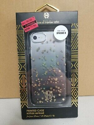 House of Harlow 1960 Printed iPhone Case 6s 6 7 8 Gold Black Star Ombre Phone