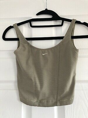 Retro Nike Stripe Workout 90s Style Crop Top Sports Bralet Running Yoga Exercise