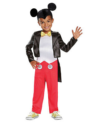 Mickey Mouse Halloween Costume Toddler (Disney Toddler Boys Mickey Mouse Halloween Costume Jumpsuit & Headpiece)