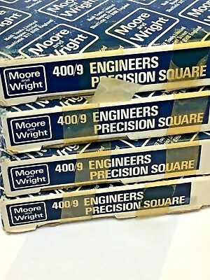 9 Precision Machinist Square By Moore Wright Sheffield England 4009 225mm