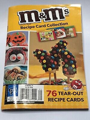 2013 m&m's Recipe Card Collection 76 Tear-Out Recipe Cards Christmas Halloween - M&m Halloween Recipes