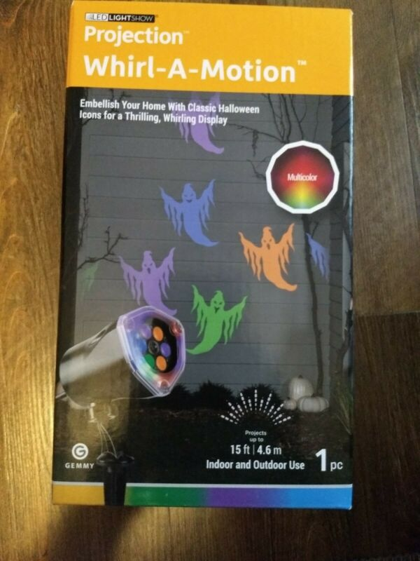 Gemmy Projection Plus LED LightShow Whirl-a-Motion Halloween PROJECTION COLOR