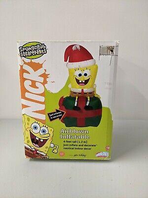 Gemmy Christmas SpongeBob Squarepants Nickelodeon Airblown Inflatable 4ft