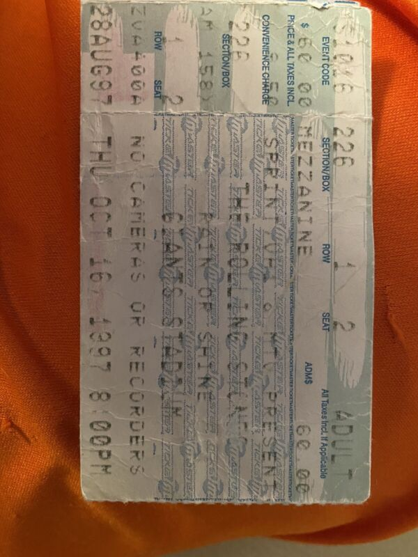 Multiple Rolling Stones Concert Ticket Stubs