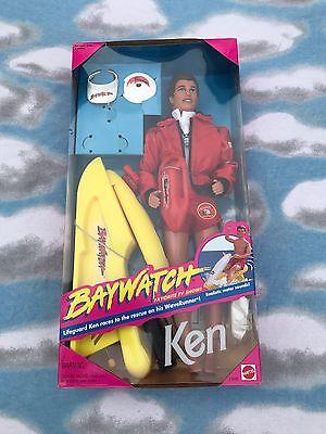 Baywatch Ken 1994 Barbie Doll Complete NIB