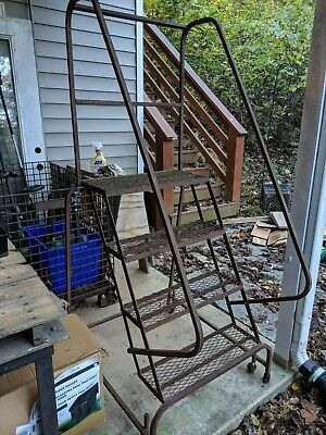 Four Step Alco-lite Aluminum Rolling Ladder Staircase By Aluminum Ladder Co.