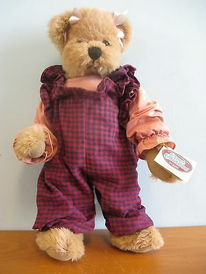 "YVONNE JOINTED 16"" TEDDY BEAR - COTTAGE COLLECTIBLES BY GANZ - NEW WITH TAGS"